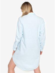 Svetlomodré pruhované košeľové šaty Selected Femme Lillian