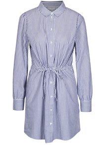 Bílo-modré pruhované košilové šaty Jacqueline de Yong Lucky