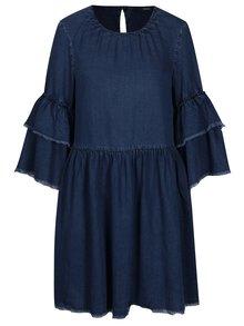 Tmavomodré rifľové šaty so zvonovým rukávom ONLY Flynn