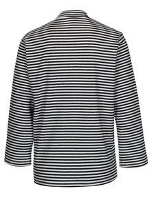 Bluza neagra in dungi cu guler Jacqueline de Yong Gana