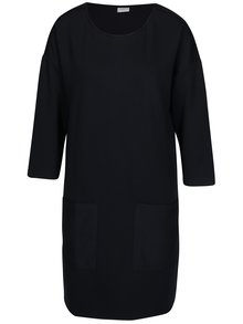Tmavě modré šaty s 3/4 rukávem Jacqueline de Yong Agnes