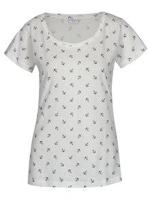 Krémové tričko s potiskem Jacqueline de Yong Anina