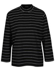 Čierne pruhované tričko Jacqueline de Yong Gana