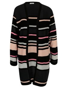 Cardigan lung roz&negru in dungi Jacqueline de Yong Tint