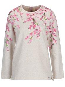Bluza crem cu print floral pentru femei - Tom Joule Clemence