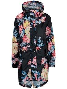 Čierna dámska kvetovaná vodovzdorná parka Tom Joule Golightly