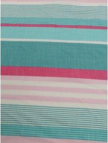 Krémovo-zelený pruhovaný šál Tom Joule Deck