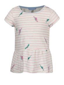 Růžovo-krémové holčičí tričko Tom Joule Lil