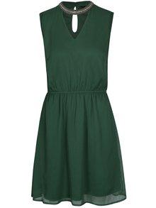 Zelené šaty s korálkovou aplikací ONLY Dafne