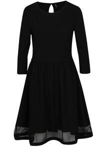Čierne šaty so sieťovanými detailmi ONLY Xena