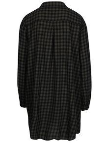Camasa rochie kaki & negru cu model tartan -  Jacqueline de Yong Ally