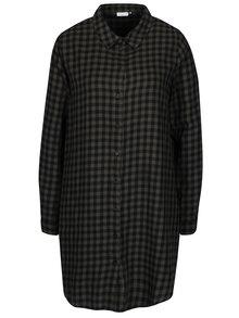 Zeleno-čierne kockované košeľové šaty Jacqueline de Yong Ally