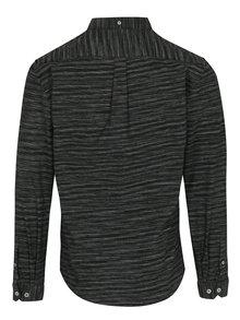 Tmavosivá melírovaná košeľa Lindbergh