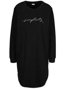 Černé mikinové šaty s dlouhým rukávem Jacqueline de Yong Tori