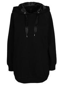 Černá dlouhá mikina se stahovací kapucí ONLY Mynte