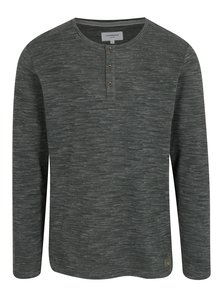 Tmavě šedé žíhané tričko s dlouhým rukávem Lindbergh