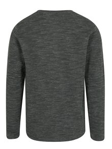 Tmavosivé melírované tričko s dlhým rukávom Lindbergh