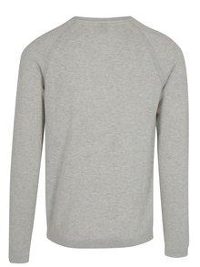 Krémový pánsky tenký melírovaný sveter s.Oliver