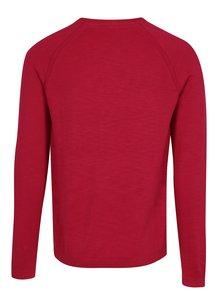 Tmavoružový pánsky tenký sveter s.Oliver