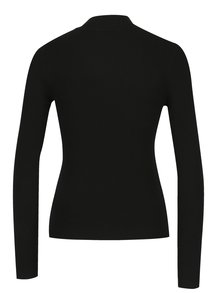 Bluza neagra cu dungi in relief Miss Selfridge