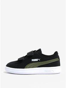 Čierne chlapčenské tenisky na suchý zips Puma