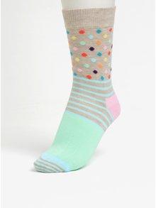 Sosete multicolore cu model pentru femei - Happy Socks Stripes Dots