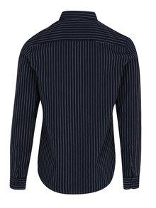 Tmavomodrá pruhovaná slim košeľa ONLY & SONS Nihal
