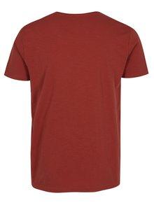 Cihlové žíhané tričko Shine Original