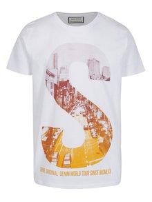Biele tričko s potlačou S Shine Original