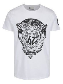 Tricou alb cu print Shine Original