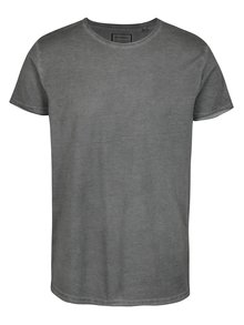 Šedé tričko s potiskem na zádech Shine Original