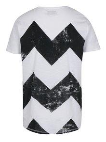 Čierno-biele vzorované tričko Shine Original