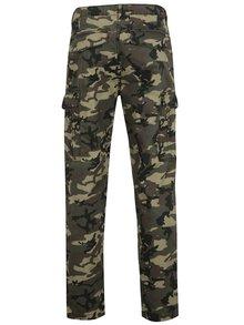 Zelené maskáčové nohavice s vreckami Shine Original