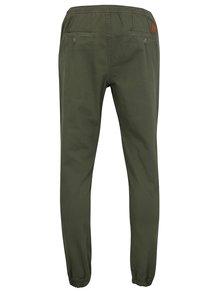 Kaki nohavice s gumou v páse Shine Original