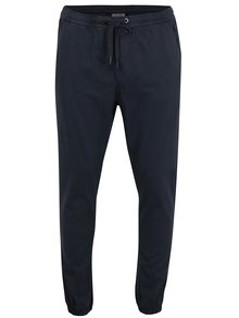 Tmavomodré nohavice s gumou v páse Shine Original