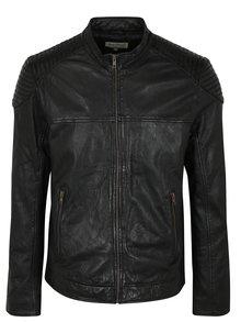 Černá kožená bunda Shine Original