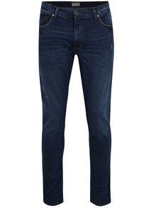 Tmavě modré slim fit džíny s potrhaným efektem Shine Original