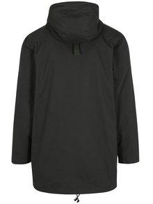 Tmavozelená dlhá bunda s kapucňou Shine Original
