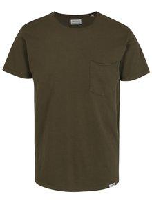 Khaki tričko s kapsou Shine Original