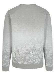 Krémovo-sivá mikina s maskáčovým vzorom Shine Original