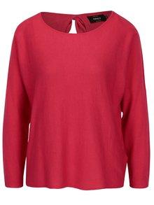Růžový lehký svetr s mašlí na zádech ONLY Sophina