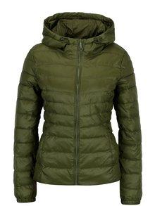 Zelená prešívaná bunda s kapucňou ONLY Tahoe