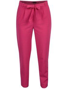 Ružové skrátené nohavice so zaväzovaním ONLY Michelle