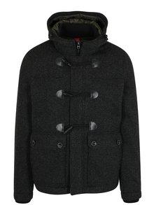 Geaca gri de iarna din amestec de lana pentru barbati - s.Oliver