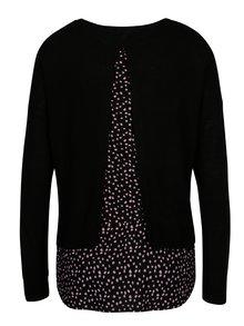 Černý svetr s výstřihem na zádech ONLY Lina