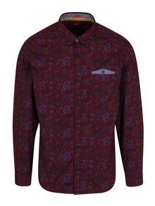Camasa slim fit bordo cu print - s.Oliver