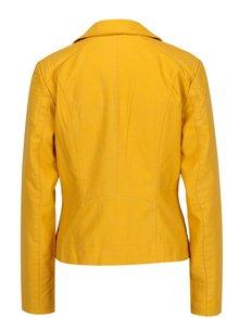 Žltá koženková bunda ONLY Steady