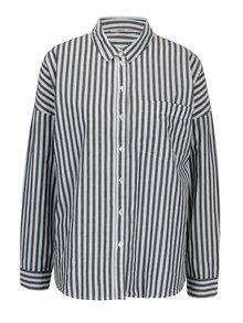 Modro-krémová pruhovaná oversize košile ONLY Joline