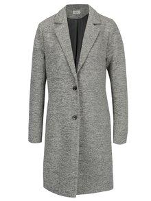 Sivý tenký melírovaný kabát ONLY Carrie
