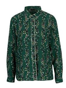 Tmavozelená kvetovaná košeľa ONLY Ditte